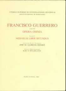 OPERA OMNIA. TOMO V. MISSARUM LIBER SECUNDUS