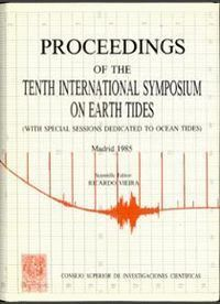 PROCEEDINGS OF THE TENTH INTERNATIONAL SYMPOSIUM ON EARTH TIDES