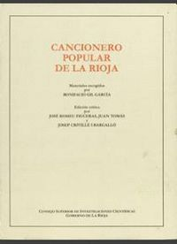 CANCIONERO POPULAR DE LA RIOJA