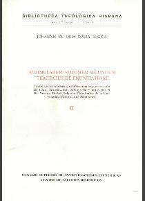 OPERA LÓGICA DE JUAN DE ORIA (JOHANNIS DE ORIA OPERA LOGICA SUMMULARUM). TOMO II. TRACTATUS DE ENUNT