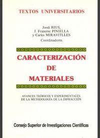CARACTERIZACIÓN DE MATERIALES