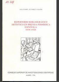 REPERTORIO BIBLIOGRÁFICO ARTÍSTICO EN PRENSA PERIÓDICA ESPAÑOLA (1936-1948)