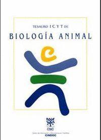 TESAURO ICYT DE BIOLOGÍA ANIMAL