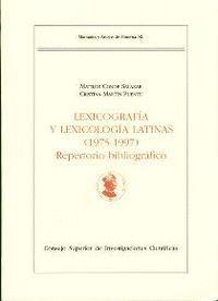 LEXICOGRAFÍA Y LEXICOLOGÍA LATINAS (1975-1997)