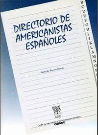 DIRECTORIO DE AMERICANISTAS ESPAÑOLES
