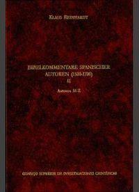 BIBELKOMMENTARE SPANISCHER AUTOREN (1500-1700). TOMO II (M-Z)