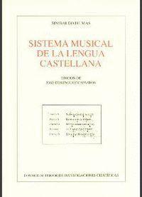 SISTEMA MUSICAL DE LA LENGUA CASTELLANA