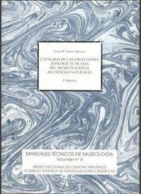 CATÁLOGO DE LAS COLECCIONES ZOOLÓGICAS DE ASIA DEL MUSEO NACIONAL DE CIENCIAS NATURALES. VOL. I. INS