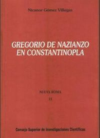 GREGORIO DE NAZIANZO EN CONSTANTINOPLA