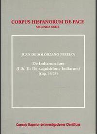 DE INDIARUM IURE. LIBER II/2. DE ACQUISITIONE INDIARUM (CAPS. 16-25)