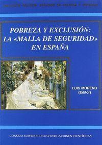 POBREZA Y EXCLUSIÓN: LA MALLA DE SEGURIDAD EN ESPAÑA