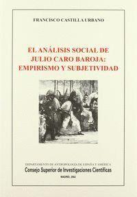 EL ANÁLISIS SOCIAL DE JULIO CARO BAROJA
