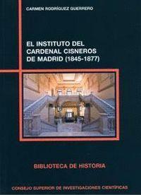 EL INSTITUTO DEL CARDENAL CISNEROS DE MADRID (1845-1877)