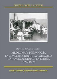 MEDICINA Y PEDAGOGA LA CONSTRUCCIÓN DE LA CATEGORA INFANCIA ANORMAL EN ESPAÑA, 1900-1939