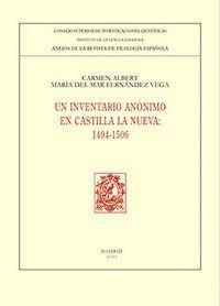 UN INVENTARIO ANÓNIMO EN CASTILLA LA NUEVA (1494-1506)