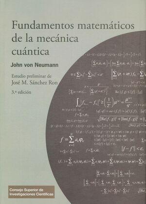 FUNDAMENTOS MATEMÁTICOS DE LA MECÁNICA CUÁNTICA