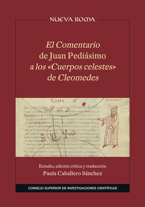 EL COMENTARIO DE JUAN PEDIÁSIMO A LOS «CUERPOS CELESTES» DE CLEOMEDES