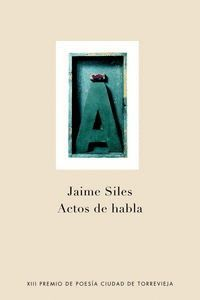 ACTOS DE HABLA PREMIO POESIA CIUDAD TORREVIEJA