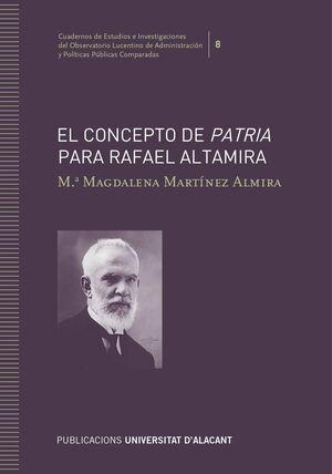 EL CONCEPTO DE PATRIA PARA RAFAEL ALTAMIRA