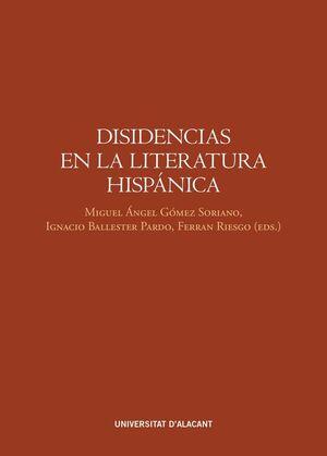 DISIDENCIAS EN LA LITERATURA HISPÁNICA