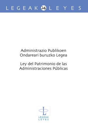 ADMINISTRAZIO PUBLIKOEN ONDAREARI BURUZKO LEGEA   LEY DE PATRIMONIO DE LAS ADMINISTRACIONES PÚBLICAS