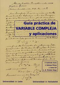 GUÍA PRÁCTICA DE VARIABLE COMPLEJA Y APLICACIONES