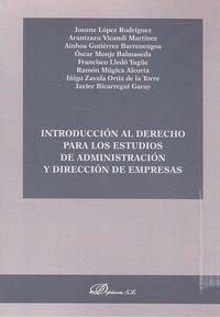 INTRODUCCIÓN AL DERECHO PARA LOS ESTUDIOS DE ADMINISTRACIÓN Y DIRECCIÓN DE EMPRESAS