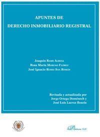 APUNTES DE DERECHO INMOBILIARIO REGISTRAL