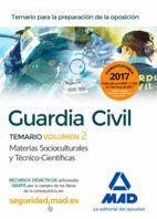 GUARDIA CIVILTEMARIO PARA LA PREPARACIÓN DE OPOSICIÓN. CIENCIAS JURÍDICAS VOLUMEN 2