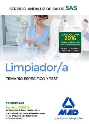 LIMPIADOR/A DEL SERVICIO ANDALUZ DE SALUD. TEMARIO ESPECÍFICO Y TEST