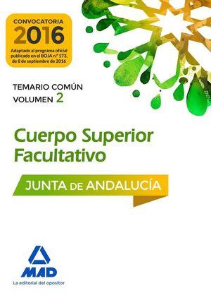 CUERPOS SUPERIORES FACULTATIVOS DE LA JUNTA DE ANDALUCIA. TEMARIO