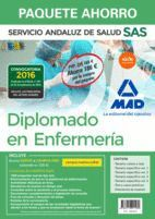 PAQUETE AHORRO DIPLOMADO EN ENFERMERÍA DEL SERVICIO ANDALUZ DE SALUD. AHORRA 186 ? (INCLUYE TEMARIO COMÚN Y TEST; TEMARIOS ESPECÍFICOS 1, 2, 3 Y 4; TE