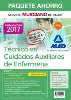 PAQUETE AHORRO TÉCNICO EN CUIDADOS AUXILIARES DE ENFERMERÍA DEL SERVICIO MURCIANO DE SALUD. AHORRO DE 100 ? (INCLUYE TEMARIO PARTE GENERAL Y TEST; TEM