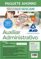PAQUETE AHORRO AUXILIAR ADMINISTRATIVO DEL SERVICIO DE SALUD DE CASTILLA-LA MANCHA (SESCAM). AHORRA 51 ? (INCLUYE TEMARIO VOLÚMENES 1 Y 2; TEST; SIMUL