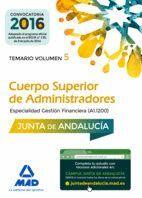 CUERPO SUPERIOR DE ADMINISTRADORES [ESPECIALIDAD GESTIÓN FINANCIERA (A1 1200)] DE LA JUNTA DE ANDALUCÍA. TEMARIO VOLUMEN 5