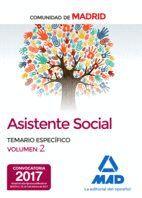 ASISTENTES SOCIALES DE LA COMUNIDAD DE MADRID TEMARIO ESPECIFICO VOLUMEN 2