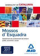 MOSSOS D`ESQUADRA. QÜESTIONARI DE CONEIXEMENT DE L'ENTORN POLÍTIC, ECONÒMIC I SOCIAL