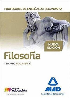 PROFESORES DE ENSEÑANZA SECUNDARIA FILOSOFÍA TEMARIO VOLUMEN 2