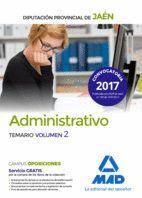 ADMINISTRATIVOS DE LA DIPUTACIÓN PROVINCIAL DE JAÉN. TEMARIO VOLUMEN 2