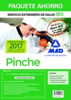 PAQUETE AHORRO PINCHE DEL SERVICIO EXTREMEÑO DE SALUD. AHORRO DE 40 € (INCLUYE TEMARIO COMÚN Y TEST; TEMARIO ESPECÍFICO; TEST TEMARIO ESPECÍFICO Y SIM