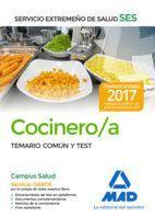 COCINERO DEL SERVICIO EXTREMEÑO DE SALUD (SES). TEMARIO COMÚN Y TEST