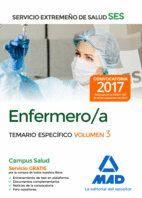 ENFERMERO/A DEL SERVICIO EXTREMEÑO DE SALUD (SES). TEMARIO ESPECÍFICO VOLUMEN 3