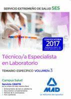 TÉCNICO/A ESPECIALISTA EN LABORATORIO DEL SERVICIO EXTREMEÑO DE SALUD (SES). TEMARIO ESPECÍFICO VOLUMEN 2