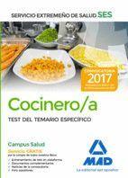 COCINERO/A DEL SERVICIO EXTREMEÑO DE SALUD (SES). TEST DE MATERIAS ESPECÍFICAS