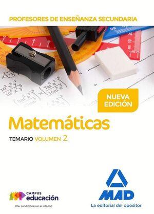 PROFESORES DE ENSEÑANZA SECUNDARIA MATEMÁTICAS TEMARIO VOLUMEN 2