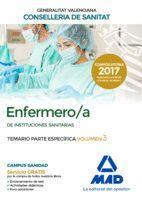 ENFERMERO/A DE INSTITUCIONES SANITARIAS DE LA CONSELLERIA DE SANITAT DE LA GENERALITAT VALENCIANA. TEMARIO PARTE ESPECÍFICA VOLUMEN 3