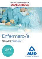 ENFERMERO/A DEL SERVICIO NAVARRO DE SALUD-OSASUNBIDEA. TEMARIO VOLUMEN 1