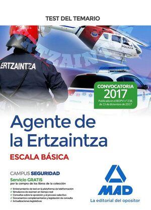 AGENTE DE LA ERTZAINTZA ESCALA BÁSICA. TEST