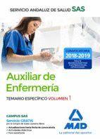 AUXILIAR ENFERMERÍA DEL SERVICIO ANDALUZ DE SALUD. TEMARIO ESPECÍFICO VOLUMEN 1