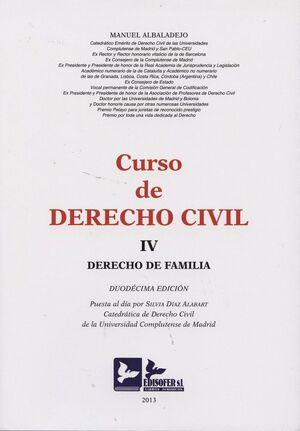 CURSO DE DERECHO CIVIL IV DERECHO DE FAMILIA